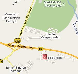 Setia Tropika Immigration Office Location Map